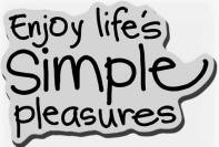 Stampendous Cling Mounted Rubber Stamp - Simple Pleasures