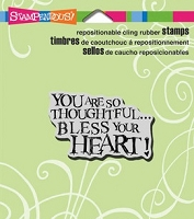Stampendous Cling Mounted Rubber Stamps - Bless Heart