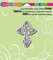 Stampendous Cling Mounted Rubber Stamp - Celtic Cross