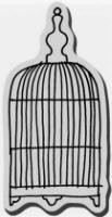 Stampendous Cling Mounted Rubber Stamp - Open Cage