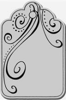 Stampendous Cling Mounted Rubber Stamp - Swirl Tag