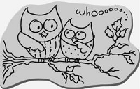 Stampendous Cling Mounted Rubber Stamp - Owl Friends