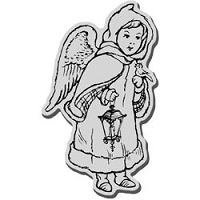 Stampendous Cling Mounted Rubber Stamp - Caped Angel