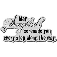 Stampendous Cling Mounted Rubber Stamp - Serenade