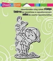 Stampendous Cling Mounted Rubber Stamps - Leaf Boy Kiddo
