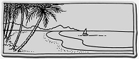 Stampendous Cling Mounted Rubber Stamp - Beachfront Boat