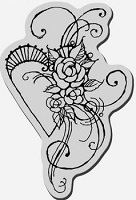 Stampendous Cling Mounted Rubber Stamp - Rose Heart :)
