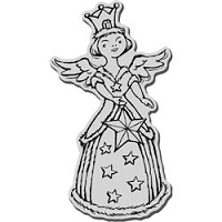 Stampendous Cling Mounted Rubber Stamp - Crowned Angel