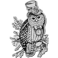 Stampendous Cling Mounted Rubber Stamp - Steampunk Owl
