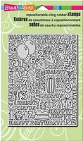 Stampendous Cling Mounted Rubber Stamps - Birthday Block