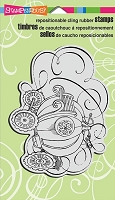 Stampendous Cling Mounted Rubber Stamps - Steampunk Coach