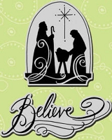 Stampendous Cling Mounted Rubber Stamp - Sacred Believe Set