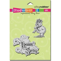 Stampendous Cling Mounted Rubber Stamp - Bonnet Spring Chick Set :)