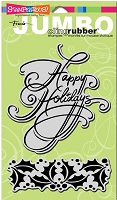 Stampendous Cling Mounted Rubber Stamp - Jumbo Holly Holidays Set :)