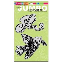 Stampendous Cling Mounted Rubber Stamp - Jumbo Peace Dove Set