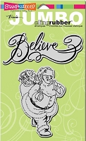 Stampendous Cling Mounted Rubber Stamp - Jumbo Believe in Santa Set