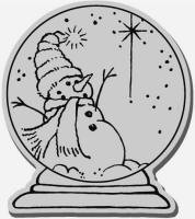 Stampendous Cling Mounted Rubber Stamp - Snow Globe