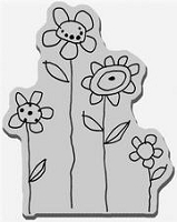 Stampendous Cling Mounted Rubber Stamp - Field of Blooms