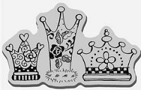 Stampendous Cling Mounted Rubber Stamp - Crazy Crowns