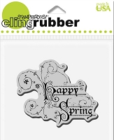 Stampendous Cling Mounted Rubber Stamp - Spring Greeting