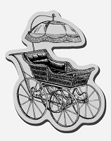 Stampendous Cling Mounted Rubber Stamp - Baby Buggy
