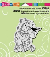 Stampendous Cling Mounted Rubber Stamps - Friendly Scarecrow