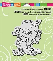 Stampendous Cling Mounted Rubber Stamps - Leaf Girl Kiddo
