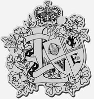 Stampendous Cling Mounted Rubber Stamp - Love Crest :)
