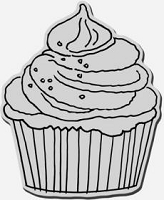 Stampendous Cling Mounted Rubber Stamp - Cupcake XL