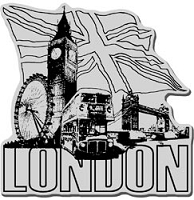 Stampendous Cling Mounted Rubber Stamp - London