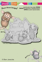 Stampendous Cling Mounted Rubber Stamp - House Mouse Birthday Cone :)