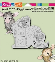 Stampendous Cling Mounted Rubber Stamp - House Mouse - Baby Blocks