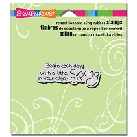 Stampendous Cling Mounted Rubber Stamps - Spring Step