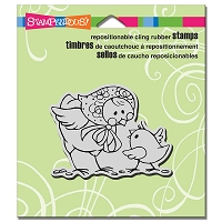 Stampendous Cling Mounted Rubber Stamps - Babushka Chick