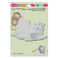 Stampendous Cling Mounted Rubber Stamps - House Mouse Designs - Birthday Bird