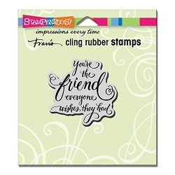 Stampendous Cling Mounted Rubber Stamp - Everyone Wishes Rubber Stamp