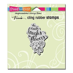 Stampendous Cling Mounted Rubber Stamp - Earth Laughs Rubber Stamp