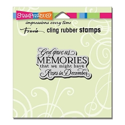 Stampendous Cling Mounted Rubber Stamp - Memories Rubber Stamp