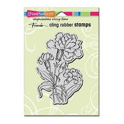 Stampendous Cling Mounted Rubber Stamp - Carnation Blooms Rubber Stamp