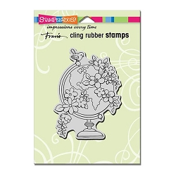 Stampendous Cling Mounted Rubber Stamp - Blooming Globe Rubber Stamp