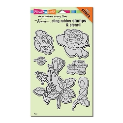 Stampendous Cling Mounted Rubber Stamps - Rose Garden Rubber Stamp Set