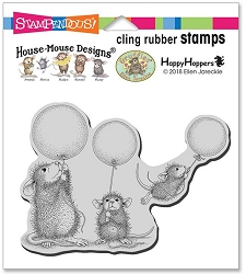 Stampendous Cling Mounted Rubber Stamps - House Mouse Designs - Balloon Fun Rubber Stamp
