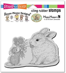 Stampendous Cling Mounted Rubber Stamps - House Mouse Designs - Clover Bouquet Rubber Stamp