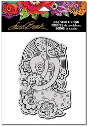 Stampendous - Laurel Burch - Cling Mermaid Heart Rubber Stamp