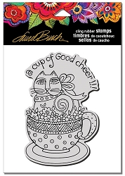 Stampendous - Laurel Burch - Cling Feline Cup Rubber Stamp