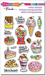 Stampendous Perfectly Clear Stamp - Sweet Treats Perfectly Clear Stamps