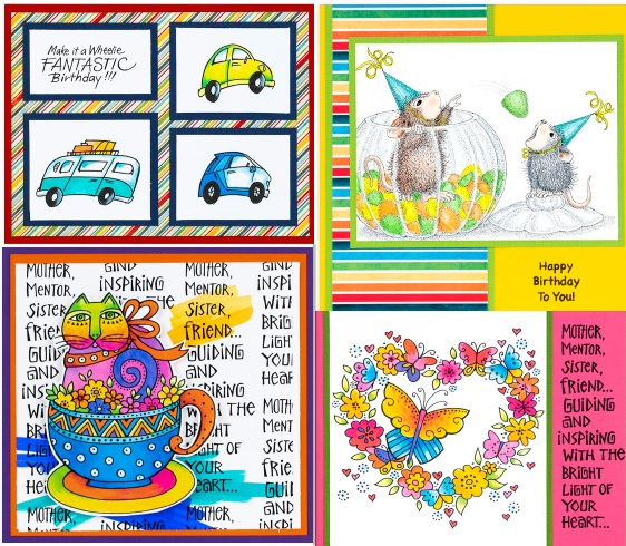 Stampendous - Spring House Mouse, Laurel Burch & More Stamps