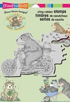 Stampendous Cling Mounted Rubber Stamp - House Mouse Designs - House Mouse Gruffies Honey Ride