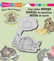 Stampendous Cling Mounted Rubber Stamp - House Mouse Designs - House Mouse Gruffies Cake Dreamer