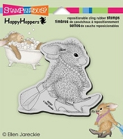Stampendous Cling Mounted Rubber Stamp - House Mouse Happy Hopper Diva Hopper